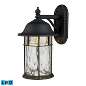 Matte Black Outdoor Sconce - MEK5459