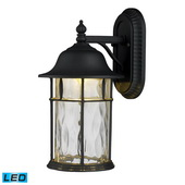 Matte Black Outdoor Sconce - MEK5460