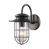 Matte Black Outdoor Sconce - MEK5461
