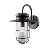 Matte Black Outdoor Sconce - MEK5462