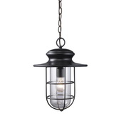 Matte Black Outdoor Pendant - MEK5463