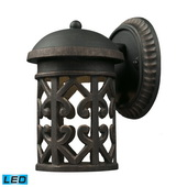 Weathered Charcoal Outdoor Sconce - MEK5478