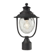 Weathered Charcoal Outdoor Post Light - MEK5526