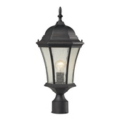 Weathered Charcoal Outdoor Post Light - MEK5531