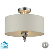 Silver Leaf Semi Flush - MEK5641