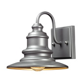 Matte Silver Outdoor Wall Sconce - MEK5724