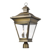Oiled Rubbed Brass Outdoor Post Light - MEK5935