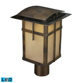 Hazelnut Bronze Outdoor Post Light - MEK6556