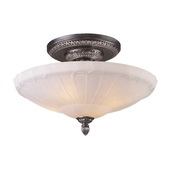 Dark Silver Semi Flush - MEK6594