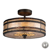 Tiffany Bronze Semi Flush - MEK6875