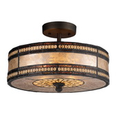 Tiffany Bronze Semi Flush - MEK6874