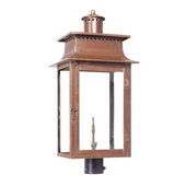 Aged Copper Gas Post Lantern - MEK7011