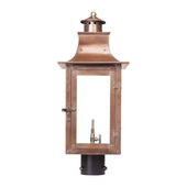 Aged Copper Gas Post Lantern - MEK7019