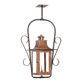 Aged Copper Gas Ceiling Lantern - MEK7021
