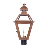 Aged Copper Gas Post Lantern - MEK7023