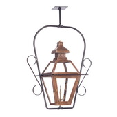 Aged Copper Gas Ceiling Lantern - MEK7025
