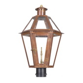 Aged Copper Gas Post Lantern - MEK7027