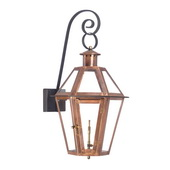 Aged Copper Gas Post Lantern - MEK7028