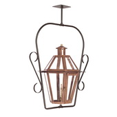Aged Copper Gas Ceiling Lantern - MEK7029