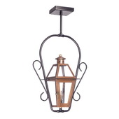 Aged Copper Gas Ceiling Lantern - MEK7033