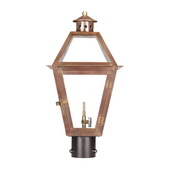 Aged Copper Gas Post Lantern - MEK7035