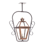 Aged Copper Gas Ceiling Lantern - MEK7037