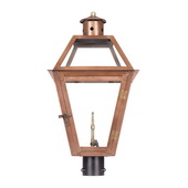 Aged Copper Gas Post Lantern - MEK7039