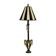 Black & Antique White Table Lamp - MEK2262