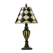 Black & Antique White Table Lamp - MEK2265
