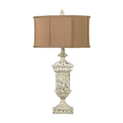 Distressed White Table Lamp - MEK2276