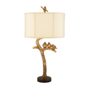 Gold Leaf & Black Table Lamp - MEK2277