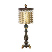 Gold Leaf & Black Table Lamp - MEK2279