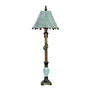 Cambridge Bronze & Blue Table Lamp - MEK2288