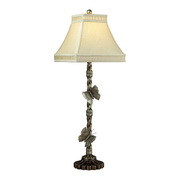 Antiqued Silver Leaf Table Lamp - MEK2296