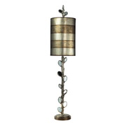 Mirror And Antique Silver Table Lamp - MEK2297