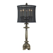 Drakes Dark Silver Table Lamp - MEK2300
