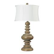 Bleached Wood Table Lamp - MEK2313