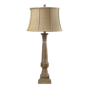 Bleached Wood Table Lamp - MEK2314