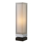 Chrome And Espresso Painted Bass Table Lamp - MEK2340