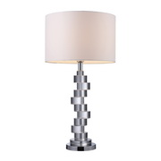 Clear Crystal And Chrome Table Lamp - MEK2365