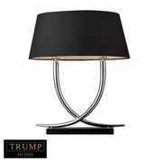 Chrome And Black Table Lamp - MEK2369