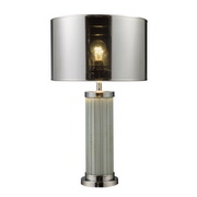 Chrome And Mirror Table Lamp - MEK2384