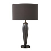 Steel Smoked And Black Nickel Table Lamp - MEK2385