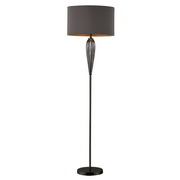 Steel Smoked And Black Nickel Floor Lamp - MEK2386