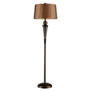 Dunbrook And Dark Wood Floor Lamp - MEK2413