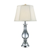 Clear Crystal And Chrome Table Lamp - MEK2427