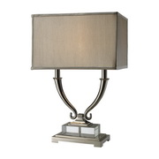 Polished Nickel And Clear Crystal Table Lamp - MEK2455