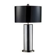 Mirrored And Black Nickel Table Lamp - MEK2461