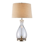 Clear Glass And Chrome Table Lamp - MEK2462