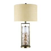 Antique Brass And Clear Glass Table Lamp - MEK2465
